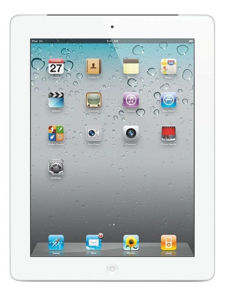 Apple Ipad 2 MC979LL A 2nd Generation Tablet 16Gb Wifi White Certified