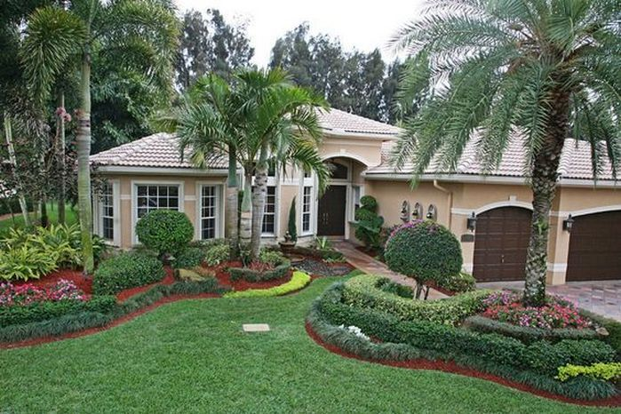 50 florida landscaping ideas front yards curb appeal palm trees 51