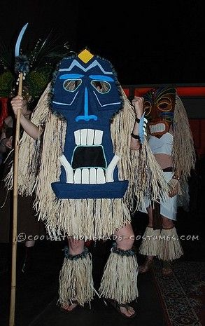 Cool DIY Costume for a Boy: A Tiki Man Spotted in Upstate New York?
