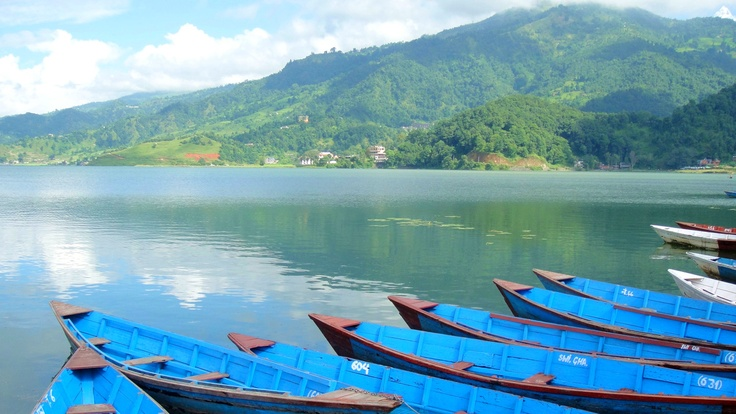 Fewa Lake of Pokhara in Nepal. That's the beauty you can't image.