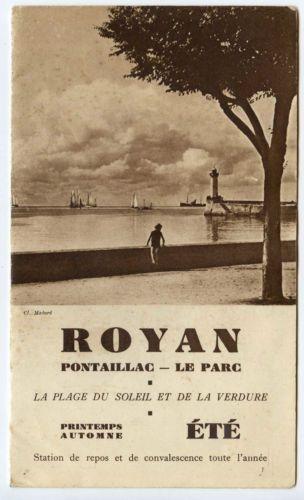 Royan Pontaillac Le Parc livret touristique Dépliant 4 volets 1933
