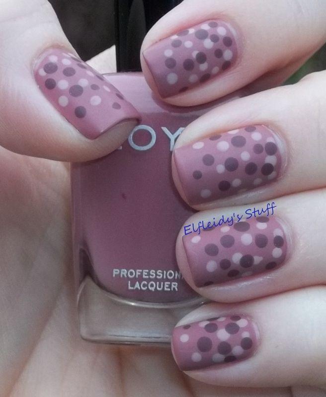 Dotting gradient nail art by Jenette Maitland-Tomblin