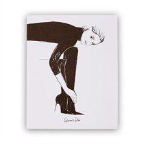 Garance Doré x Rifle Paper Co. Tall Black Boots Art Print - 8x10
