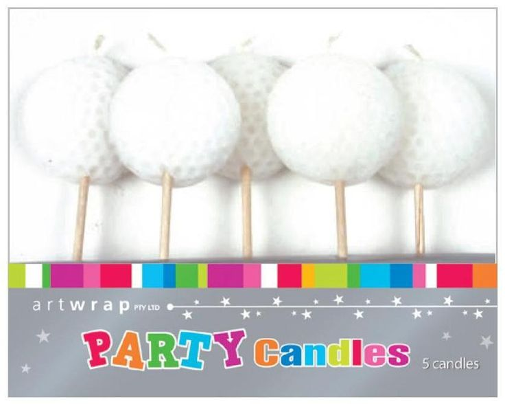 Golf Ball Cake Candles | Golf themes and supplies