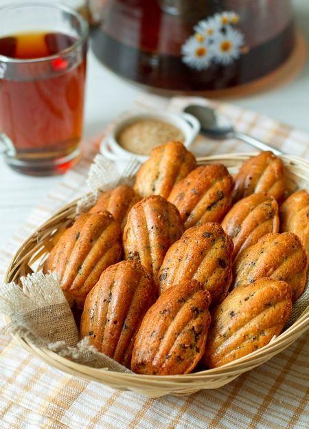 Медовое печенье Мадлен с шоколадной крошкой
