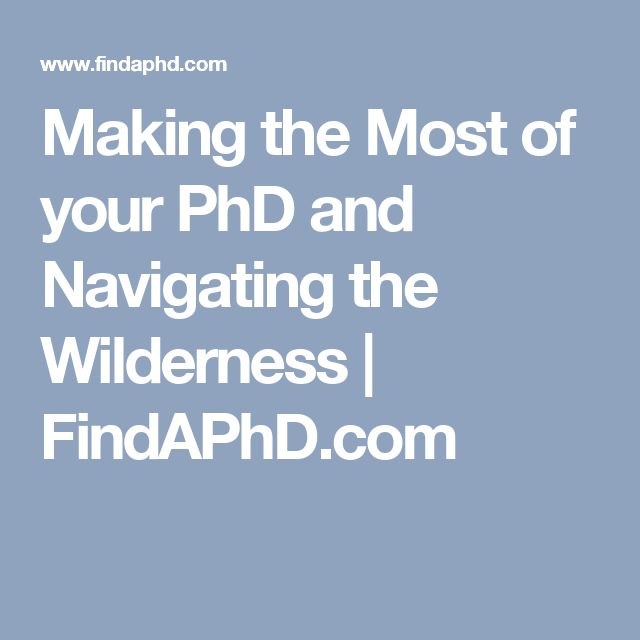 Making the Most of your PhD and Navigating the Wilderness | FindAPhD.com