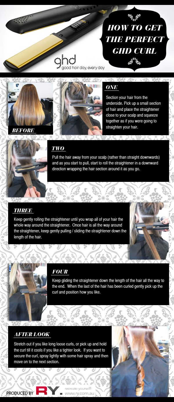 How to curl hair with GHD straightener by Ry.com.au
