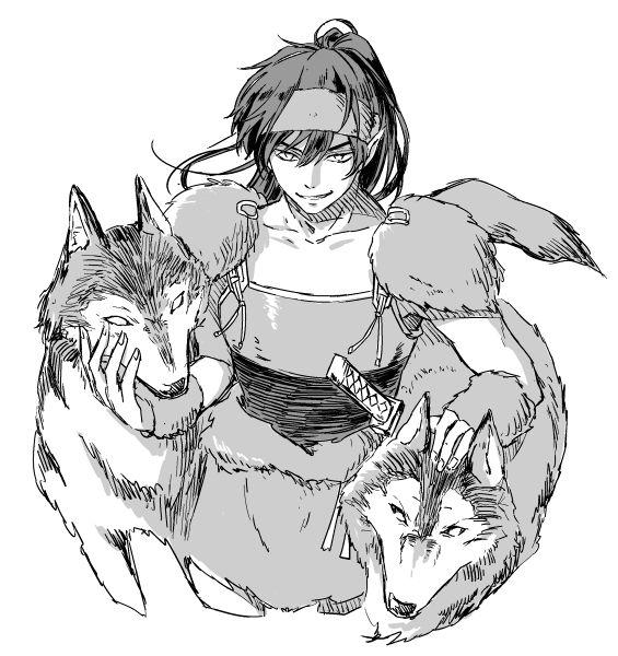 InuYasha. Koga the wolf demon  Credits to the artist