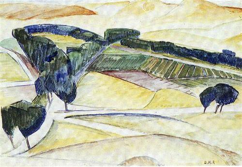 Landscape at Toledo - Diego Rivera - Cubism, 1913
