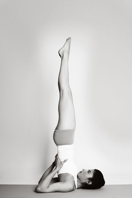 Sarvangasana - Shoulderstand Keep legs together and back straight