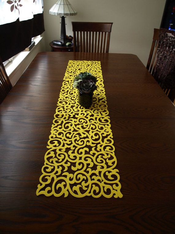 25 best ideas about modern table runners on pinterest Dining room table runner ideas