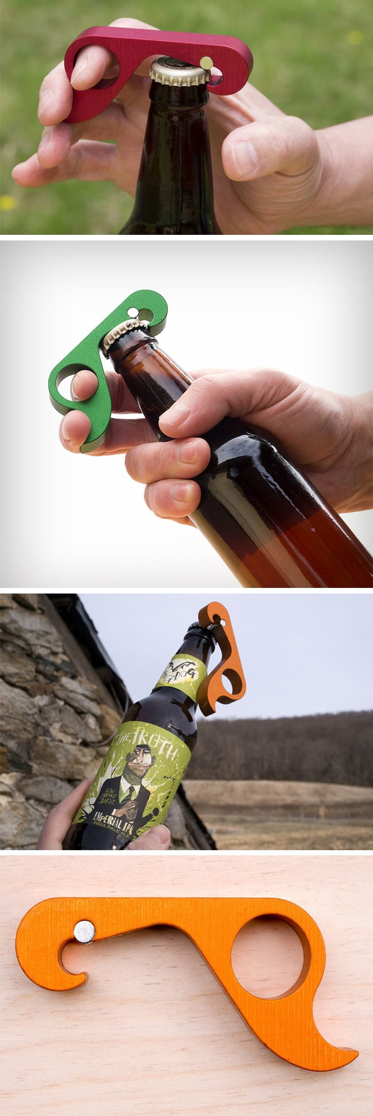 The GrOpener (Grab+Opener) is a bottle opener designed specifically for single handed use. Making things easy for both abled as well as disabled people, the GrOpener sits comfortably on a bottle top and pops it open with an unbelievably easy trigger action.