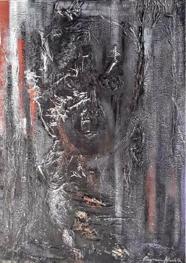 "Saatchi Art Artist Nicoleta Cimpeanu; Collage, ""CHARMING  BLACK"" #art"