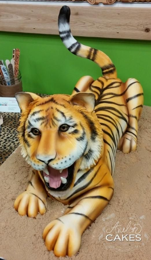 Cake Art Academy Kennesaw : Tiger Cake by Avalon Cakes School of Sugar Art Cake Art ...