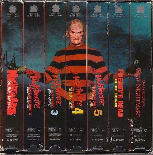 A Nightmare on Elm Street VHS series