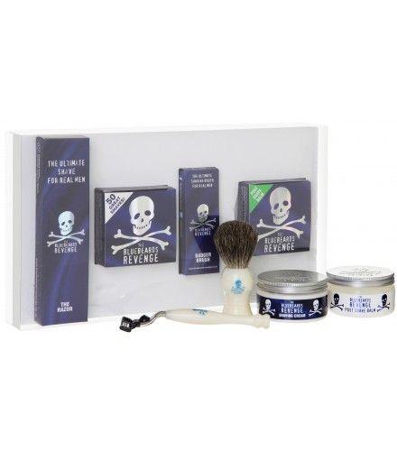 The Bluebeards Revenge Shaving Cream, Brush and Mach3 Razor Gift Set