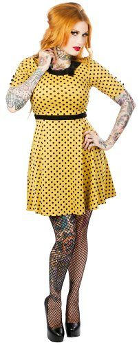 Mustard Yellow Polka Dot Betty Dress from Sourpuss Clothing (Small) Sourpuss http://smile.amazon.com/dp/B00N8C7R7G/ref=cm_sw_r_pi_dp_c3flub0M74FQ2