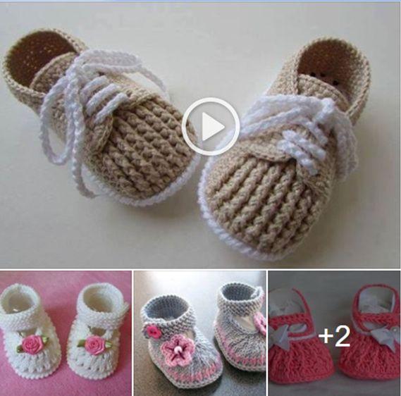 Aprende a tejer unos lindos zapatitos para bebés a crochet en todas las tallas – Aprende Con Diana