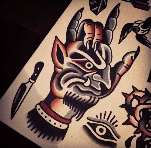 traditional hand tattoo flash - Google Search