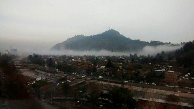 Neblina en Santiago