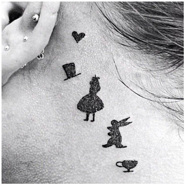 Alice in wonderland tattoo ❤ liked on Polyvore featuring accessories and tattoo