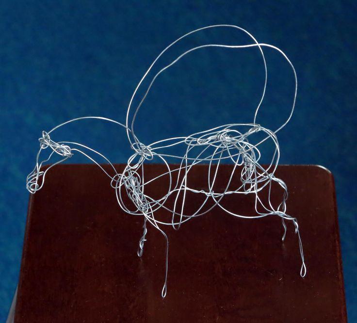Pegasos. S.Tarnanen, 2017, iron  wire.