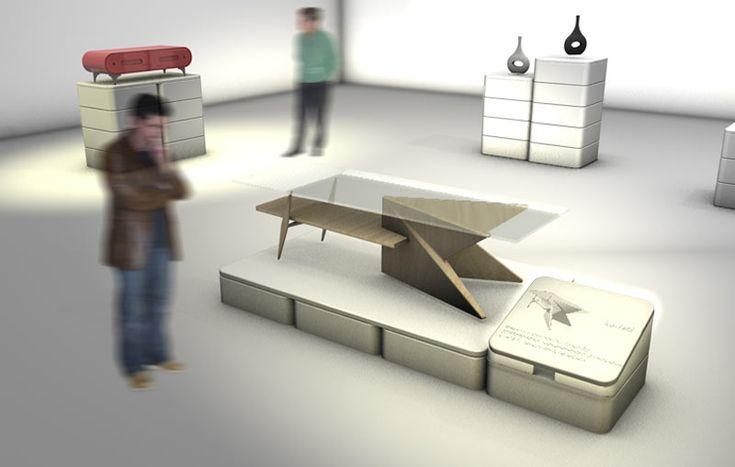 Propuestas para el mobiliario de la Sala Grande de exposiciones | ESDIR. Escuela Superior de Diseño de La Rioja