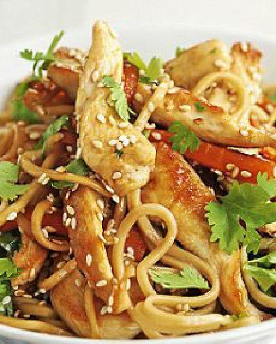 Low FODMAP Recipe and Gluten Free Recipe - Quick chicken noodles