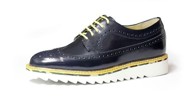 longwing brouge+shark sole_navy