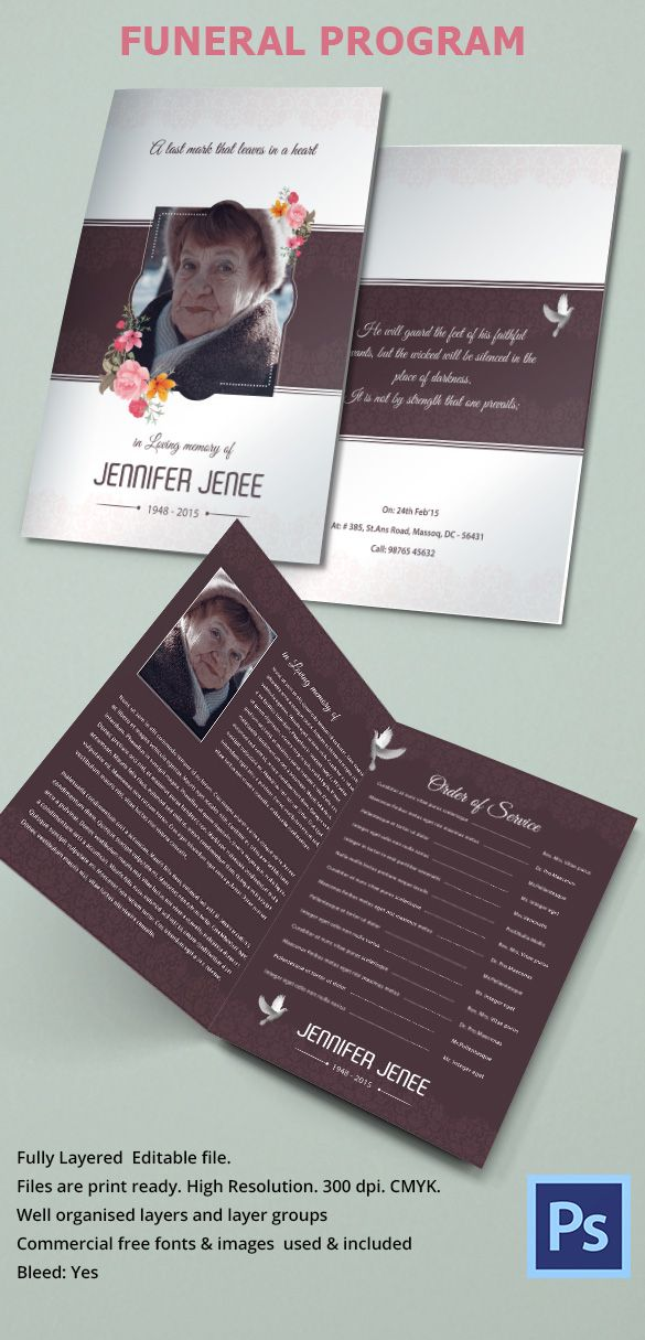 The 25+ best Sample funeral program ideas on Pinterest Wedding - free funeral template