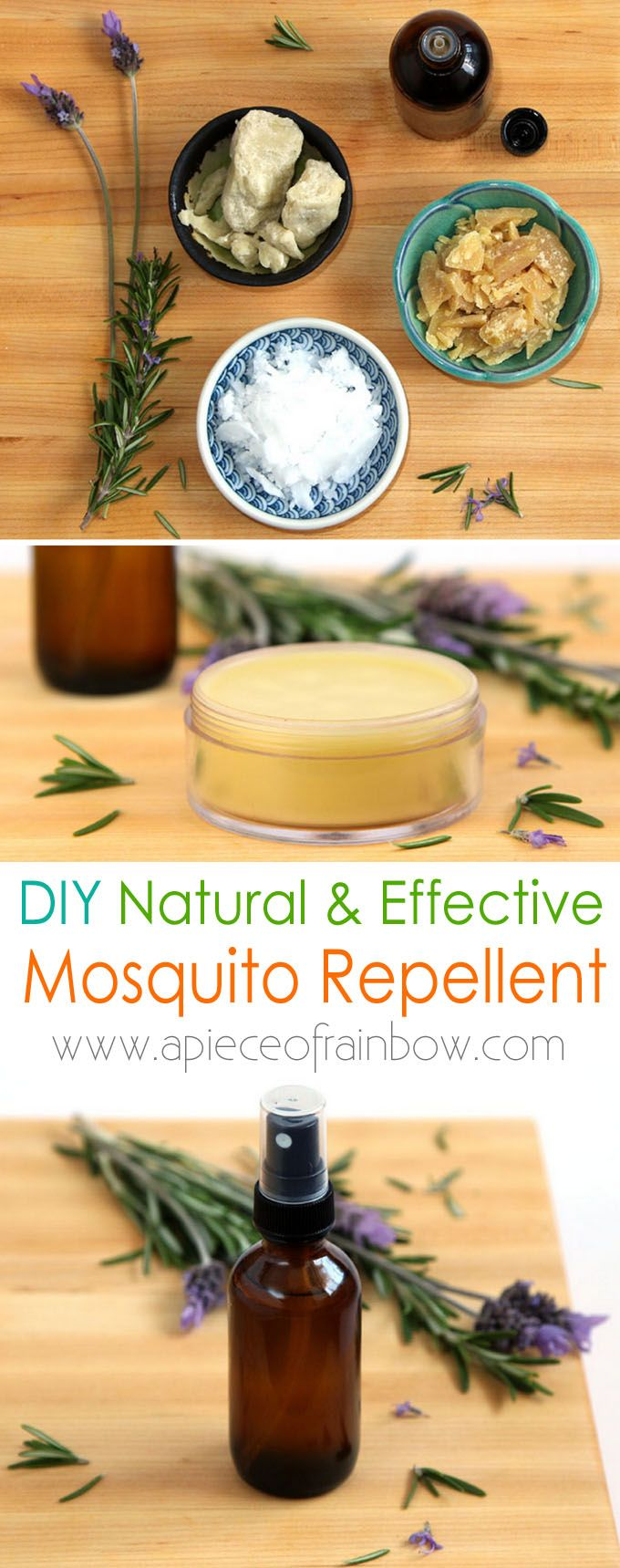 Two ways to make all natural mosquito repellent: a bug spray and a mosquito balm. Super easy to make and very effective! Tested while hiking in Florida!