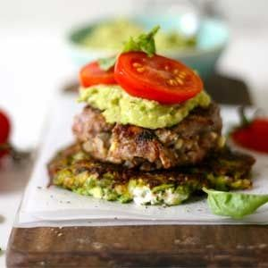 Get your burger fix AND stick to your diet with a 'Banting' burger with creamy avo and tomato