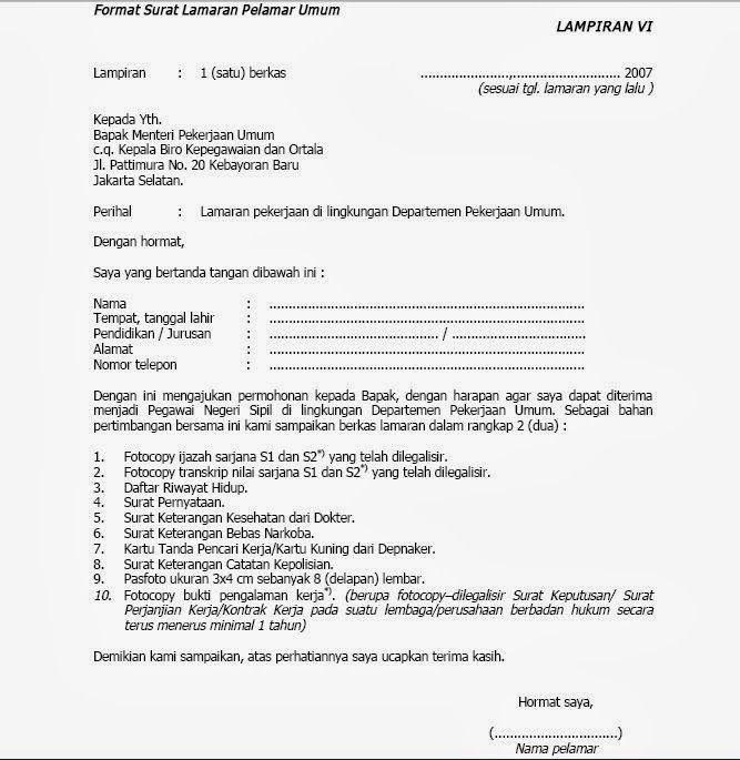Download gratis contoh format surat lamaran seleksi cpns kemenkumham 2019 2020. Inilah 12+ Contoh Surat Lamaran Cpns 2021 - Contoh Surat ...