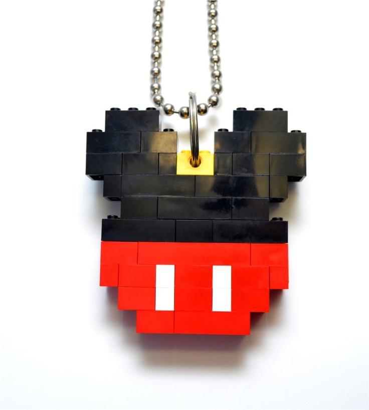 LEGO mickey necklace