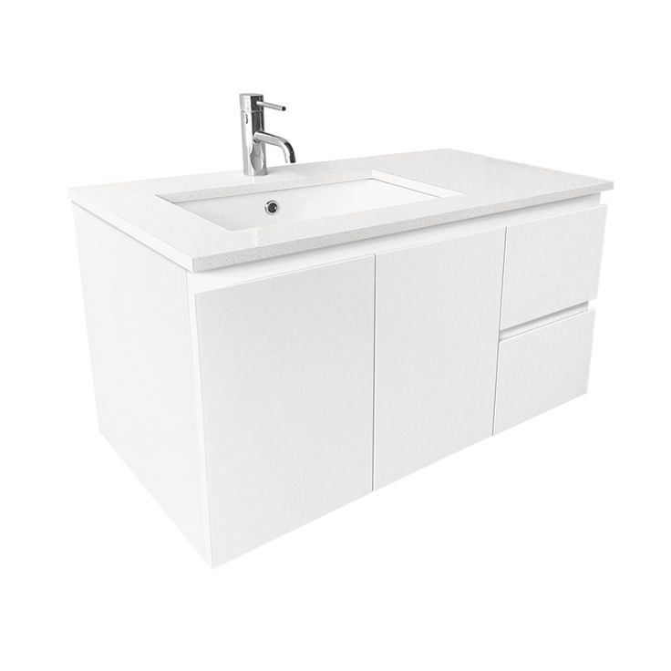 Find Cibo Design 900mm White Caesar Vanity With 20mm Quartzstone Top at Bunnings Warehouse. Visit your local store for the widest range of bathroom & plumbing products.