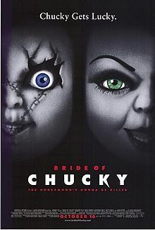 "Scream: Tiffany (Jennifer Tilly), a lover of the killer that animates Chucky, puts the ""Child's Play"" doll together again. Then Chucky turns Tiffany into a doll herself."