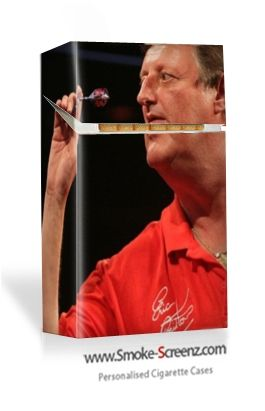 Fan of Eric Bristow the Crafty Cockney just created and bought this case for their cigarette pack. Hope it improves their darts :)