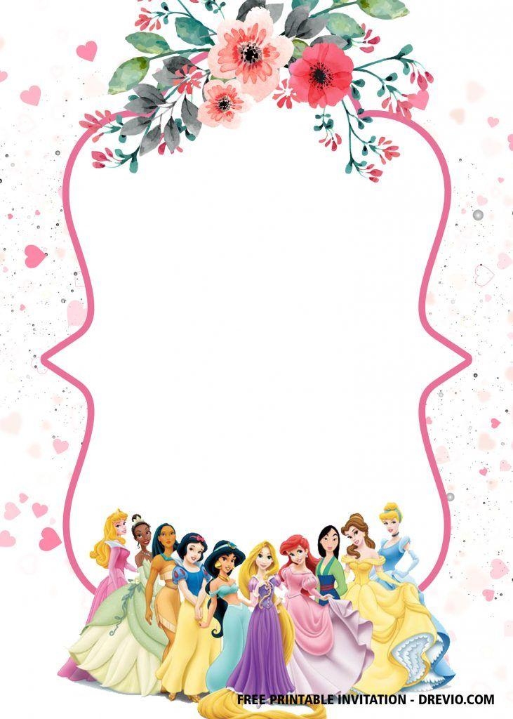 Free Disney Princess Invitation Template For Your Little Girl S Birthday Princess Invitations Princess Party Invitations Princess Birthday Invitations