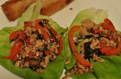 Thai Turkey and Basil Lettuce Wraps | food | Pinterest