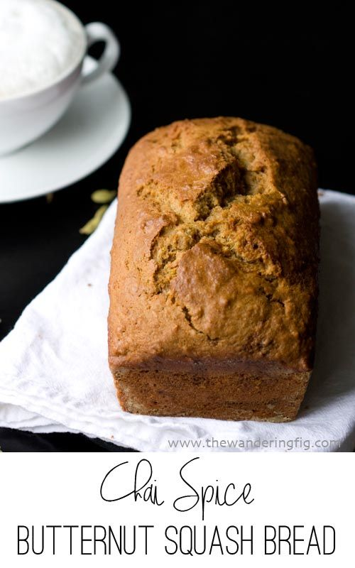 Chai Spiced Butternut Squash Bread.  This is the spiciest, moistest, most delicious quick bread you will try this fall!  #pumpkin #fall #makeahead