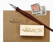 Deliver To Envelope Rubber Stamp