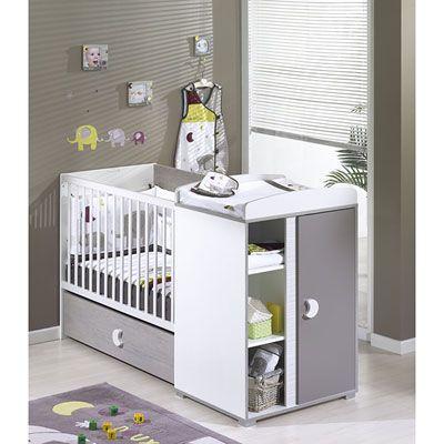 Sauthon meubles Lit bébé chambre transformable 60 x120 cm india