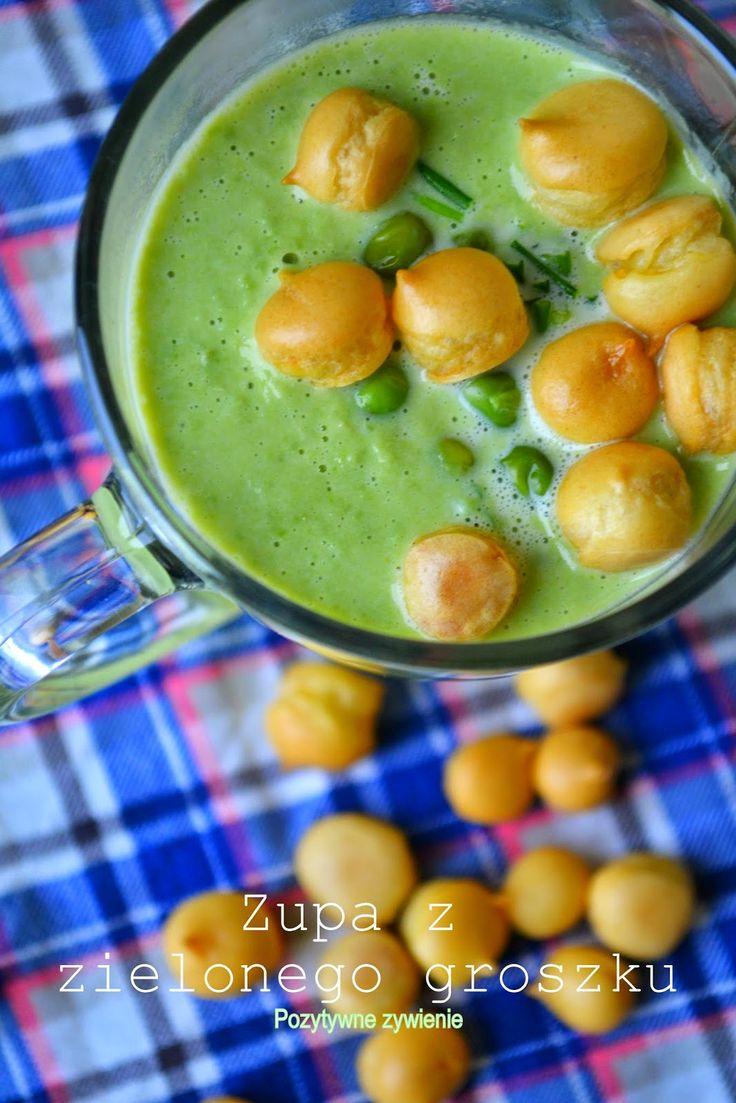 Pozytywne żywienie - dietetyka od przyjemnej strony: Kremowa zupa z zielonego groszku - dietetyczna, wege