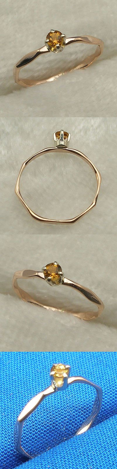 Rings 98477: November Birth Stone Baby Keepsake Ring, Hand Crafted 14K Rose Gold, Citrine -> BUY IT NOW ONLY: $53 on eBay!