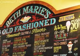The very best ice cream shop there is! Beth Marie's.  LOVE this place and MISS it!!!