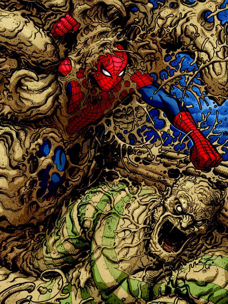 Spiderman Vs. Sandman | Marvel spiderman, Spiderman art ...