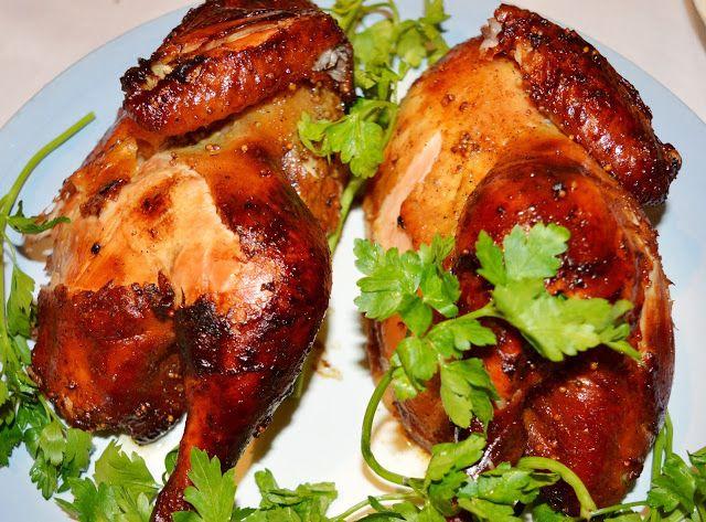 Курица, запеченная с апельсинами, в горчичном соусе | Семейный кулинарный…
