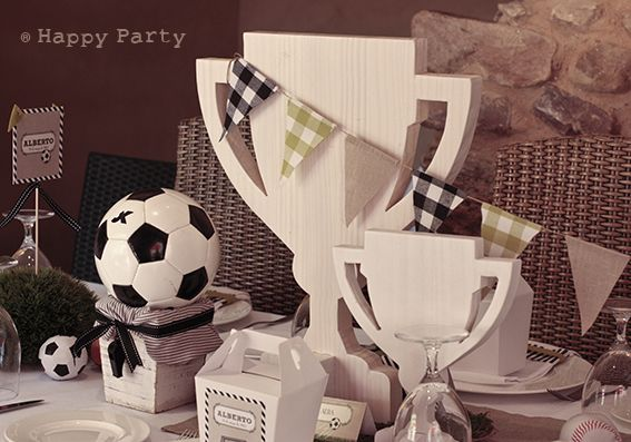 Happy Party: La fiesta de Alberto { decoración de Fútbol con un aire retro}
