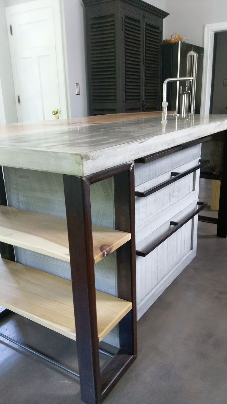 Kitchen Island 4 X 8 27 best images about concrete sinks/countertops on pinterest   see
