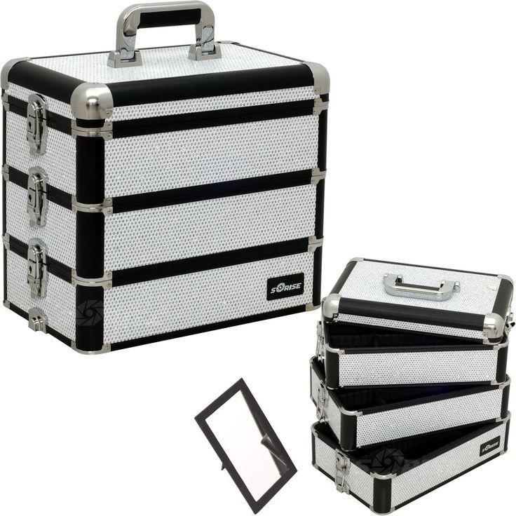 White Krystal Pro Makeup Case - E3303 - salonhive.com
